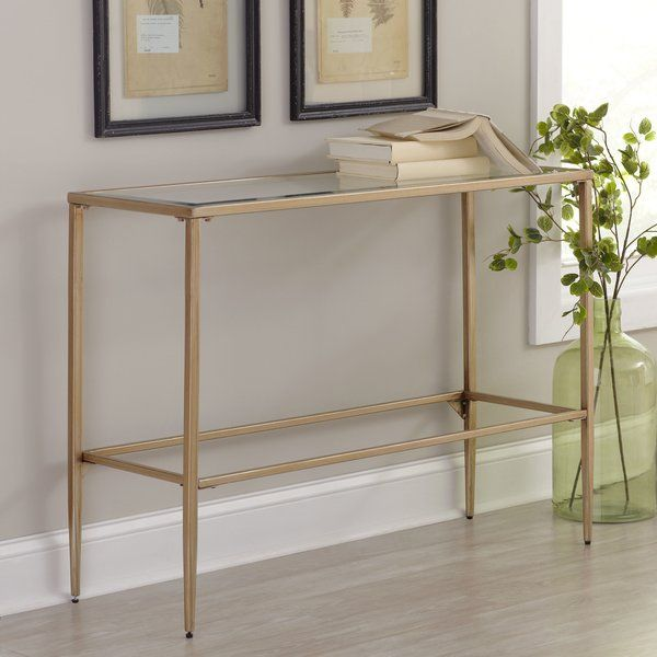 Somerdale 42 Console Table In 2020 Narrow Console Table Farmhouse Console Table Contemporary Console Table