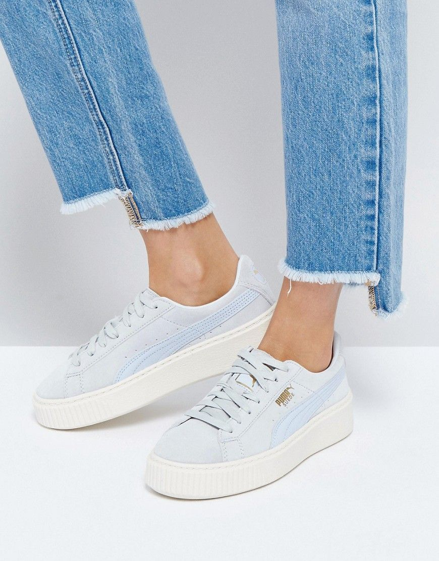 ba696d6fb5d1 Buy it now. Puma Suede Platform Trainer In Blue - Blue. Trainers by ...