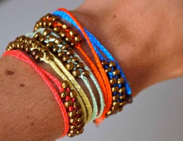 DIY Jewelry DIY Bracelet DIY neon braided bead bracelets