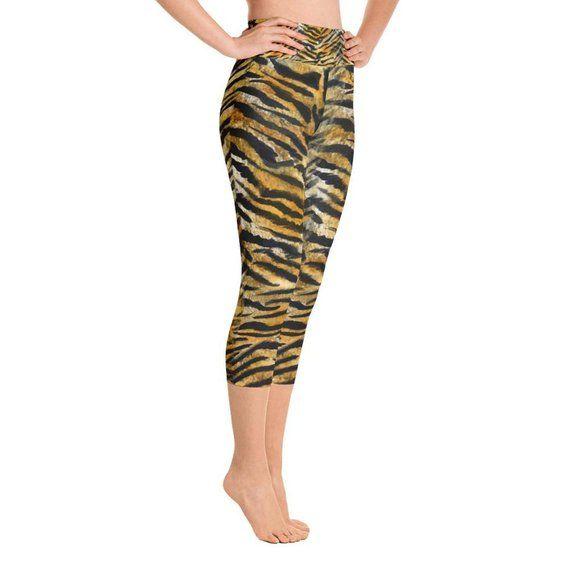 d7b553986d19ec Kyoko Elastic High Waist Tiger Stripe Brown Animal Print Hot | Etsy ...