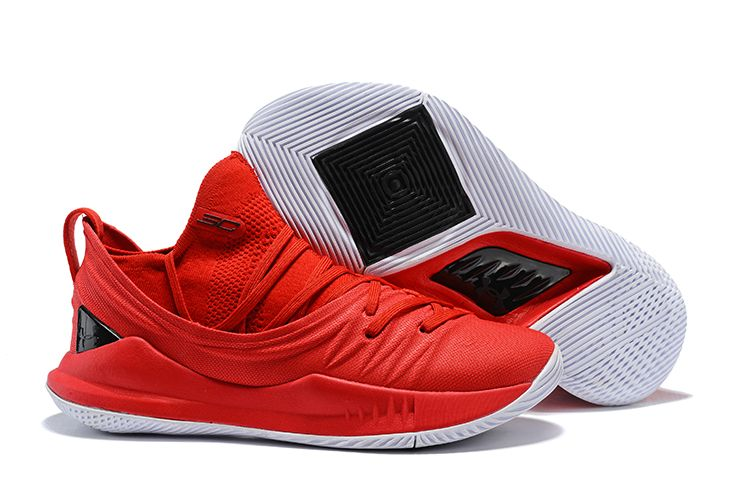 "2018 Under Armour Curry 5 Low ""University Red"" Basketball Shoes For Sale ce026ebf1"