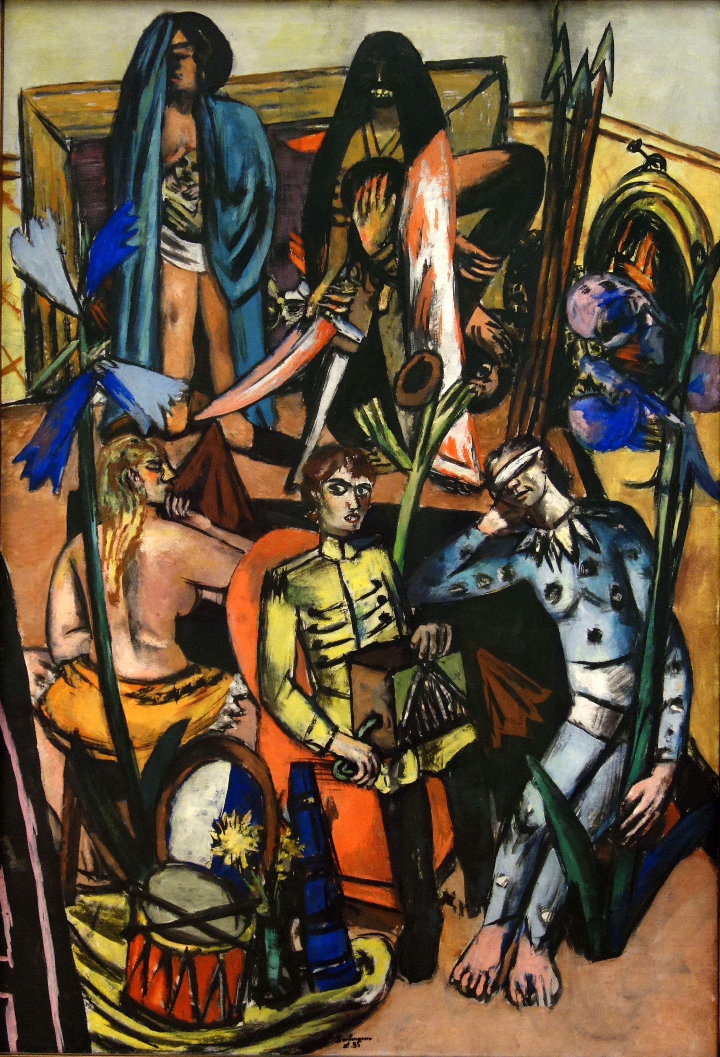 Der Leiermann Max Beckmann 1935 Museum Ludwig Koln Max Beckmann German Art German Expressionism