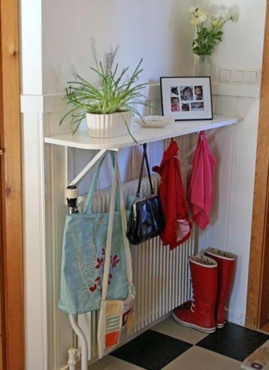 Hallway Hooks hooks under console shelf   ideas for house   pinterest   consoles