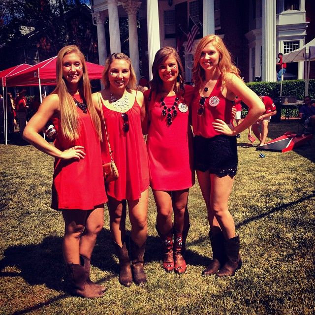 UGA game day, these are my AXO sisters!!!!!!