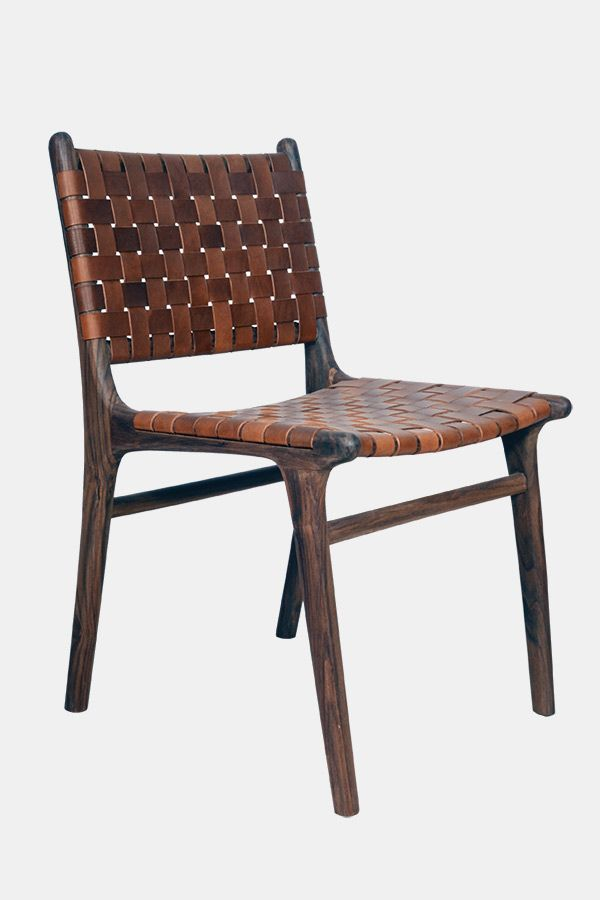 Fenton And Criss Cross Dining Chair Rosewood Tan