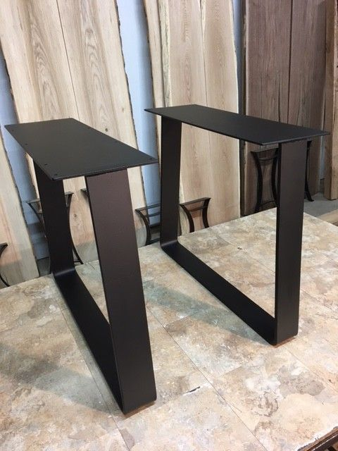 28 INCH TALL STEEL TRAPEZOID DINING TABLE BASE SET! Part #X-187 images