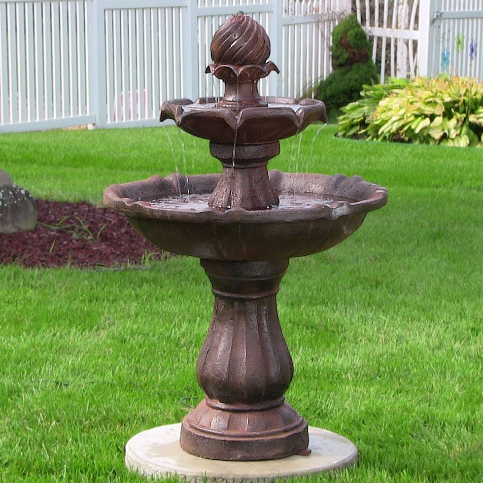 Outdoor 2 Tier Solar Water Fountain For Garden Yard Decor. Water Feature Patio  Decoration By
