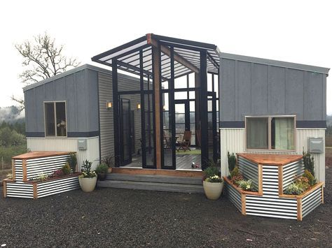 This family home is two tiny houses connected by a sunroom #tinyhome