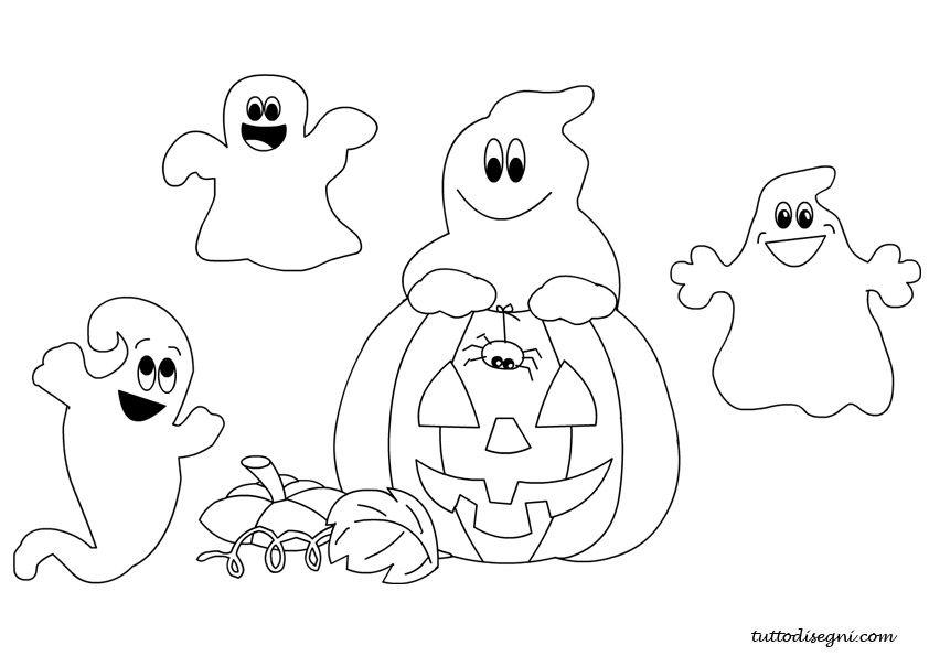 fantasma con scritta happy halloween fantasma con zucca di