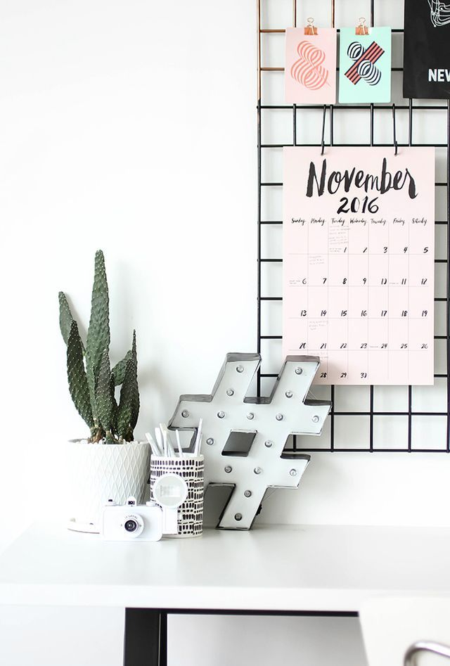 MY DIY | Grid Wall Organization