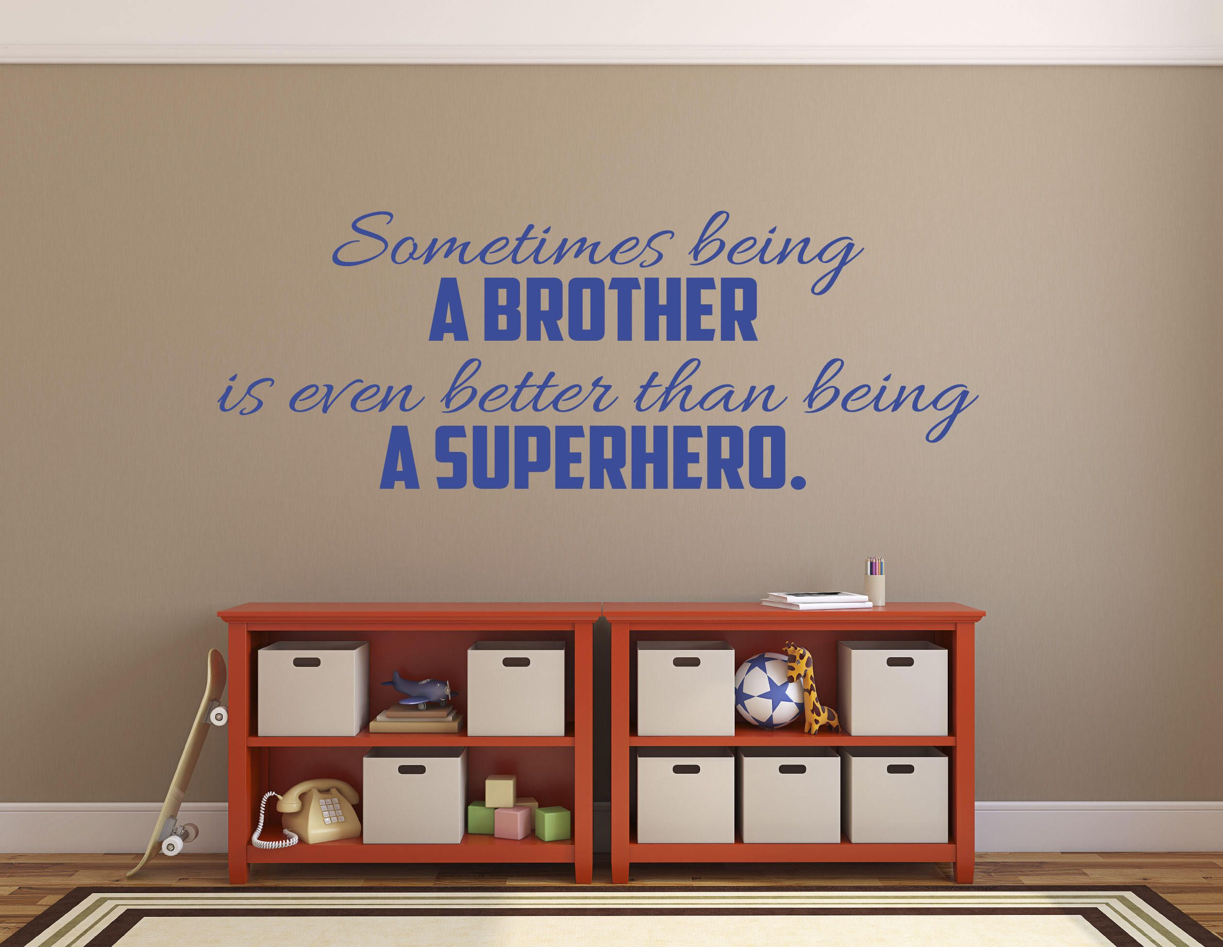 Sometimes being a big brother is better than being a superhero wall