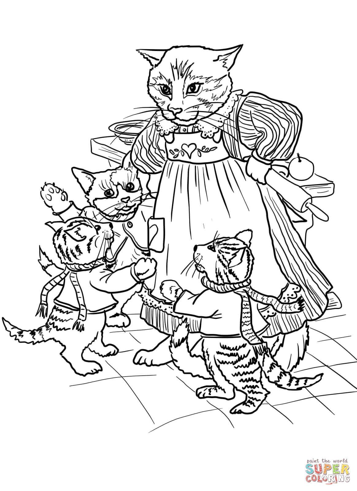3 Little Kittens Have Lost Their Mittens Kittens Coloring Cat Coloring Page Dog Coloring Page