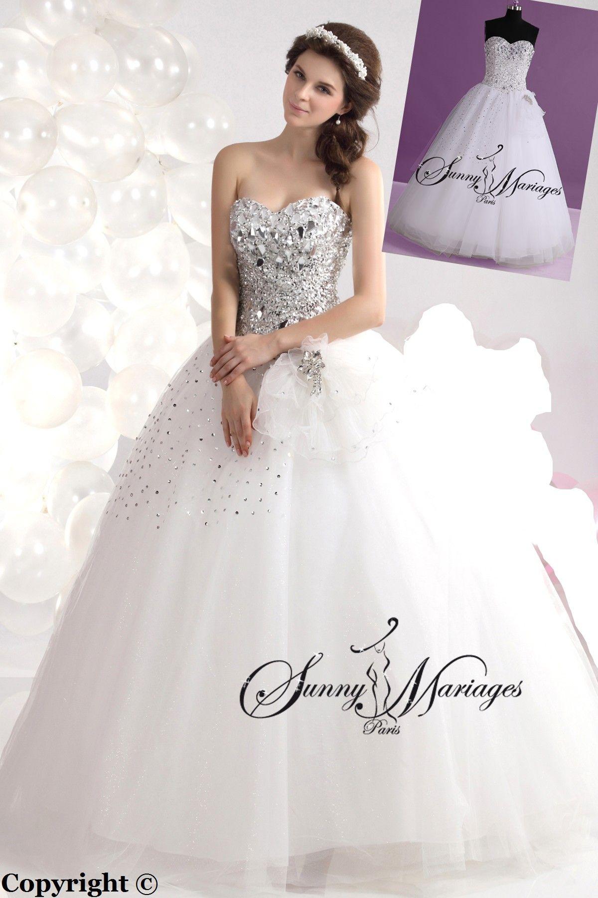 27529e489e7 robe-de-mariee-princesse-avec-bustier-en-cristaux-ou-strass (1)3 ...