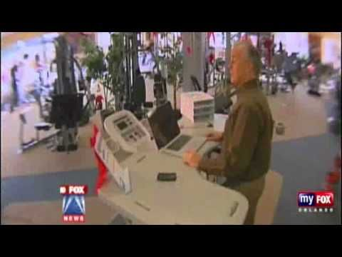 TrekDesk Treadmill Desk Featured on Orlando News Station