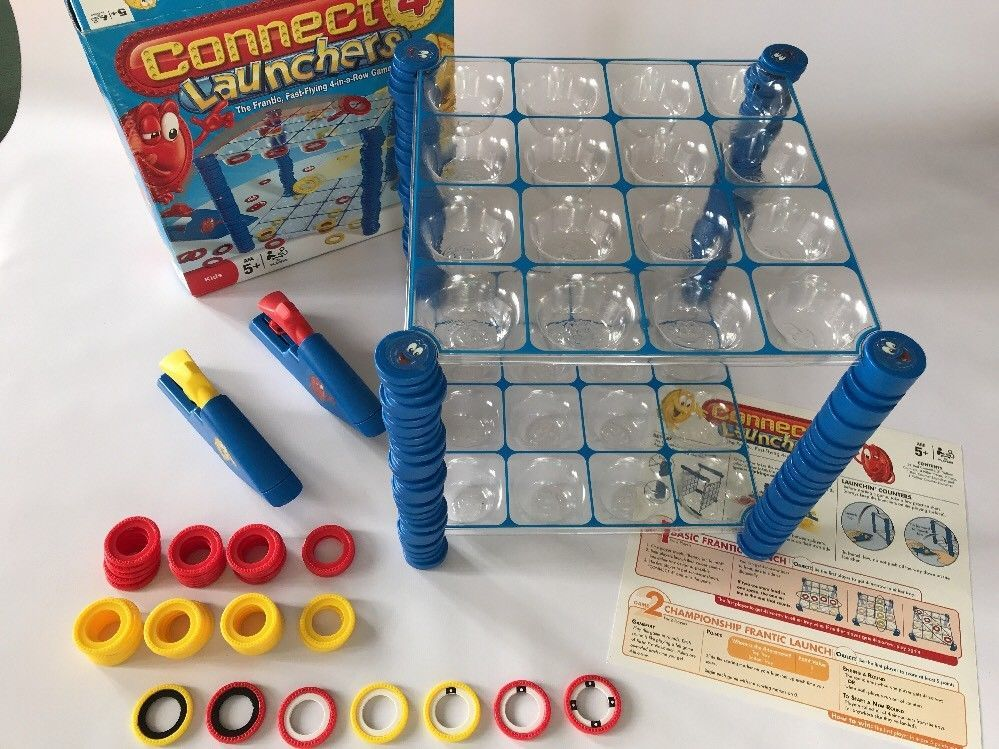 Connect 4 Launchers Board Game HASBRO Great Condition