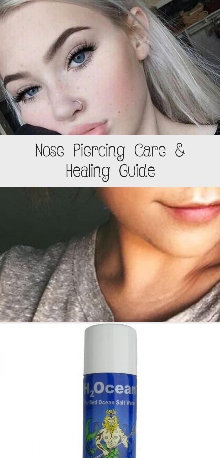 Nose Piercing Care & Healing Guide PIERCINGS Nasenpiercing Aftercare #pierc