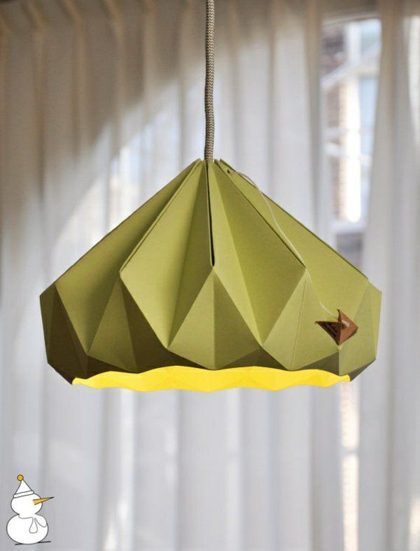 origami lampenschirm anleitung f r bastler ideen rund ums haus origami origami lampshade. Black Bedroom Furniture Sets. Home Design Ideas