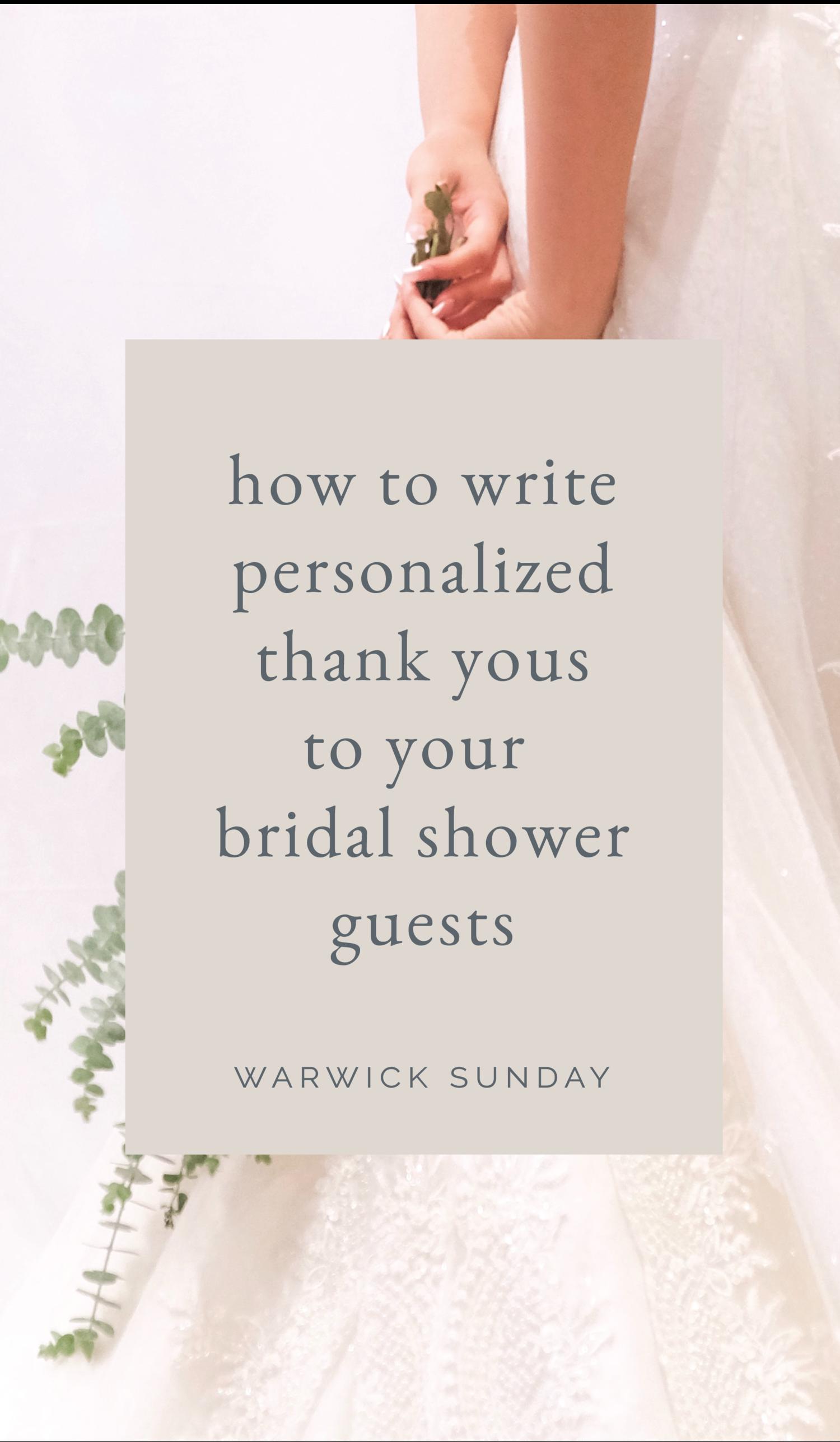 bridal shower thank you card wording in 2020  bridal