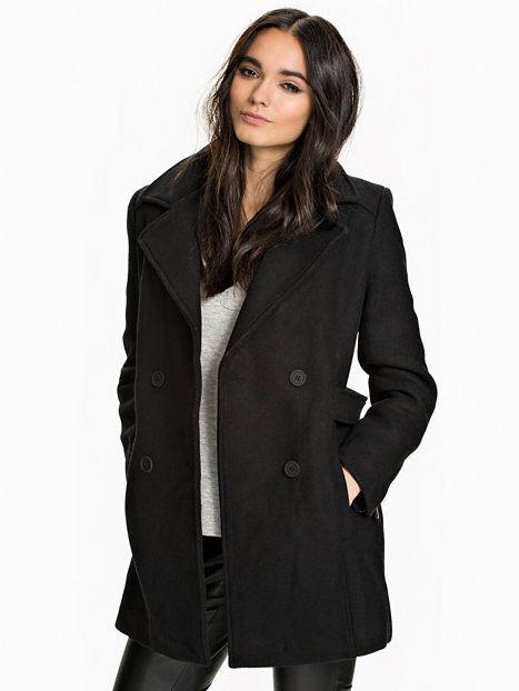 trench coat svart