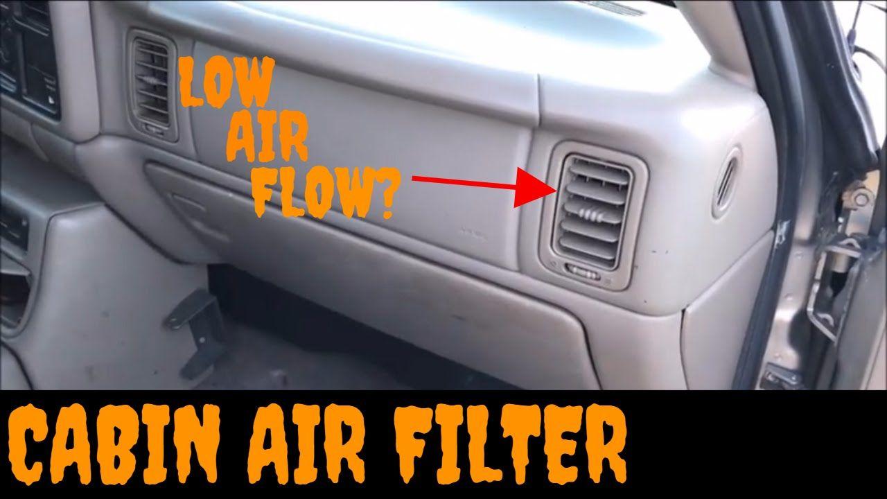 1999 2002 Gmc Sierra Chevy Silverado Cabin Air Filter Replacement Instal Chevy Silverado Cabin Air Filter Chevy