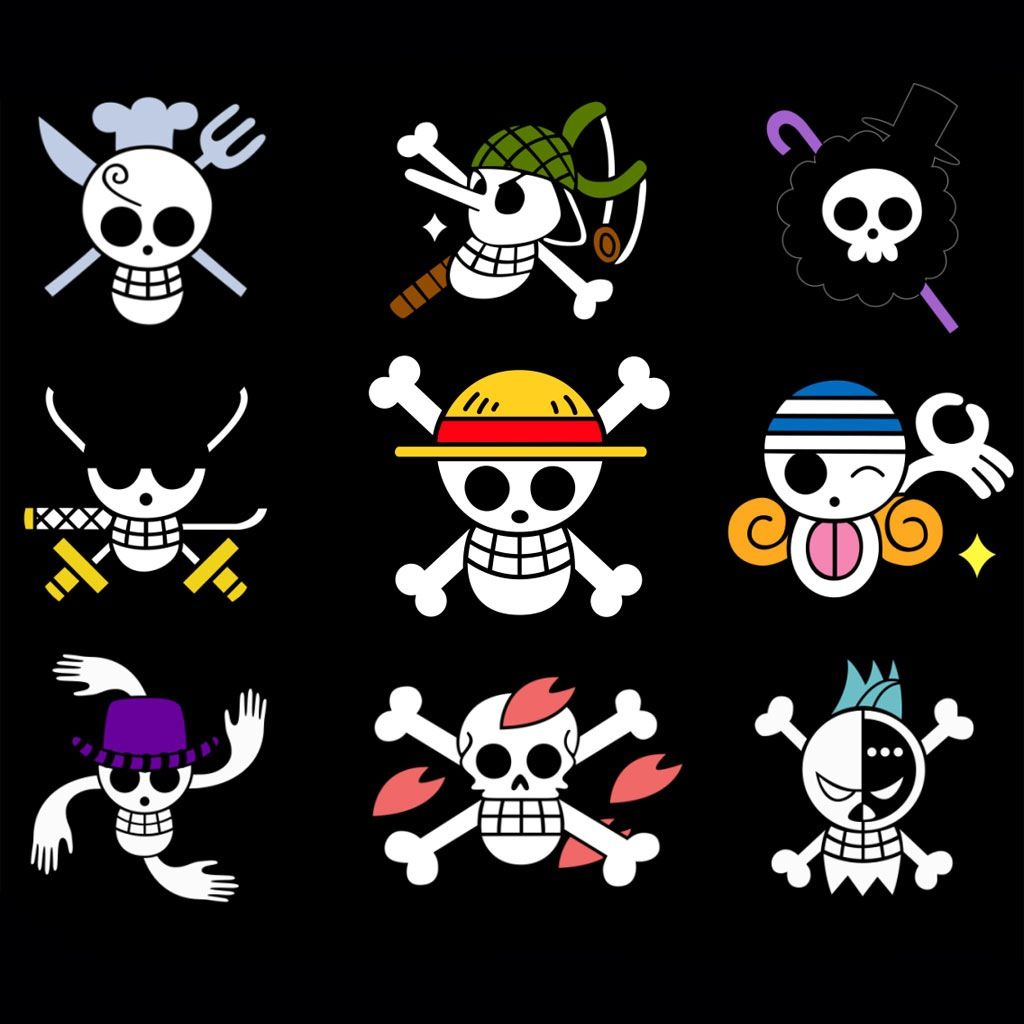 One Piece jolly rogers | tattoos | One piece tattoos, One ... Official One Piece Jolly Rogers