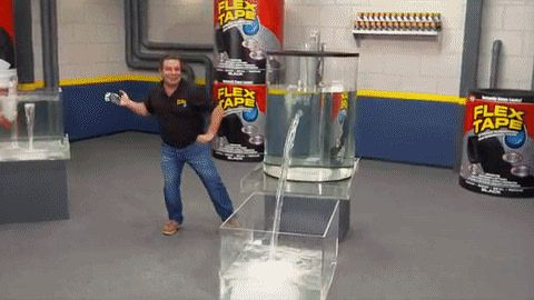Flex Tape Sealing Leak In Big Tank Of Water Waterproof Tape Leak Repair Butyl Tape