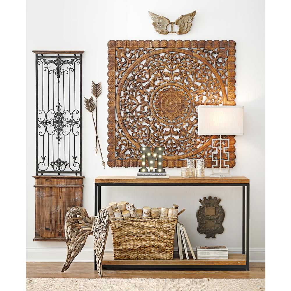 Home Decorators Collection Anjou Natural Console Table 8861400210 The Home Depot Decor Indonesian Decor Rustic Console Tables