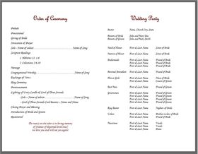 Bulletin Template Simply Elegant  Template Elegant And Wedding
