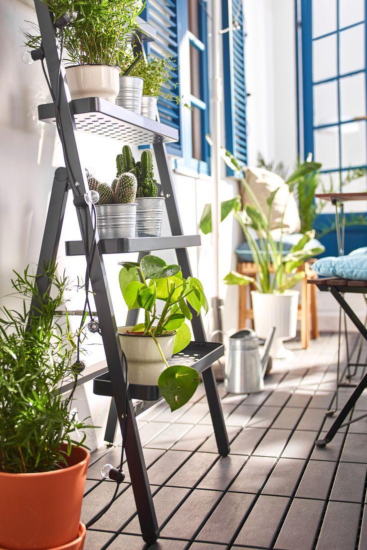 Blumenständer Salladskål Für Draußen Grau Ikea Deutschland Der Blumenständer Ist Wie Eine Dekorative Le Ikea Garden Furniture Balcony Planters Flower Stands