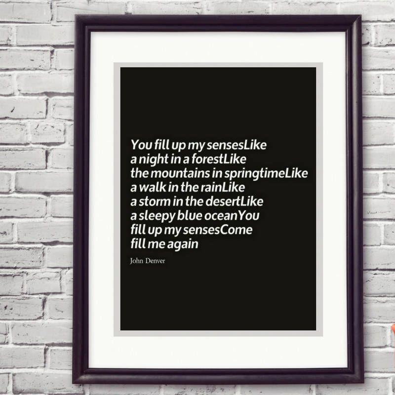 Good Last Minute Wedding Gifts: John Denver Annie's Song 1 Year Anniversary Wedding First
