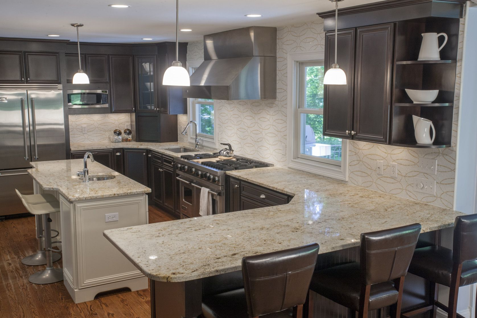 55 Cabinet And Countertop Combinations Kitchen Floor Vinyl Ideas Check More At Http White Kitchen Interior Concrete Countertops Kitchen Light Grey Kitchens