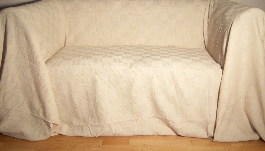 NaturalCream Giant Throw for Large 2 or 3 Seater Sofa or Kingsize
