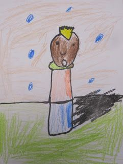 shine brite zamorano: kindergarten art lesson; Kindergarten Little People