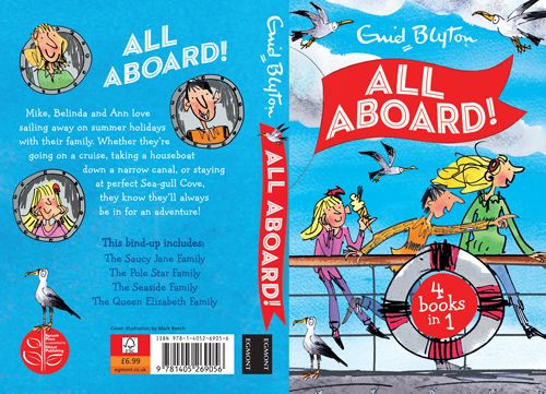 Mark Beech created this front cover for Enid Blyton's book All Aboard. #enidblyton To see more of Mark's work please visit www.nbillustration.co.uk