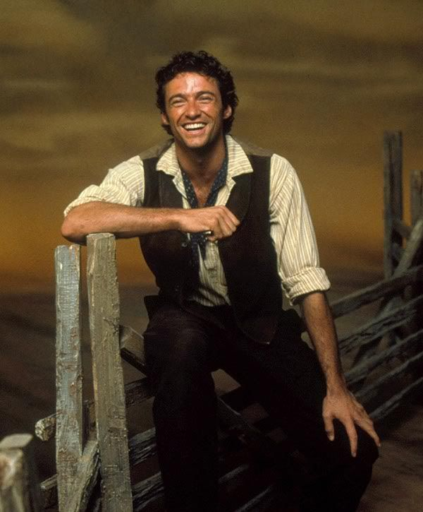 Hugh Jackman as Curly in the 1998 London production of ...