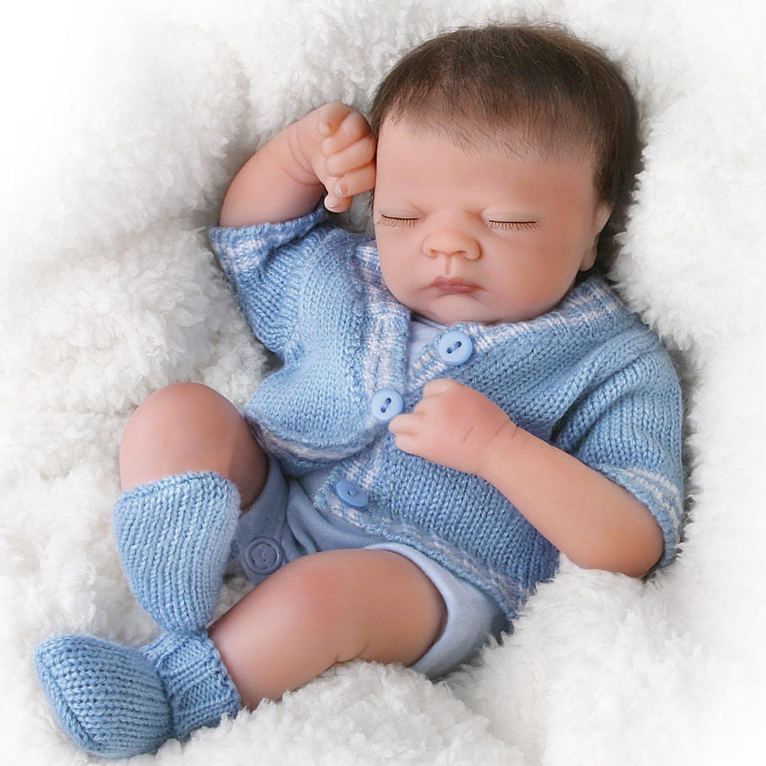 Realistic Baby Boy Doll Reborn Vinyl Hand Painted With