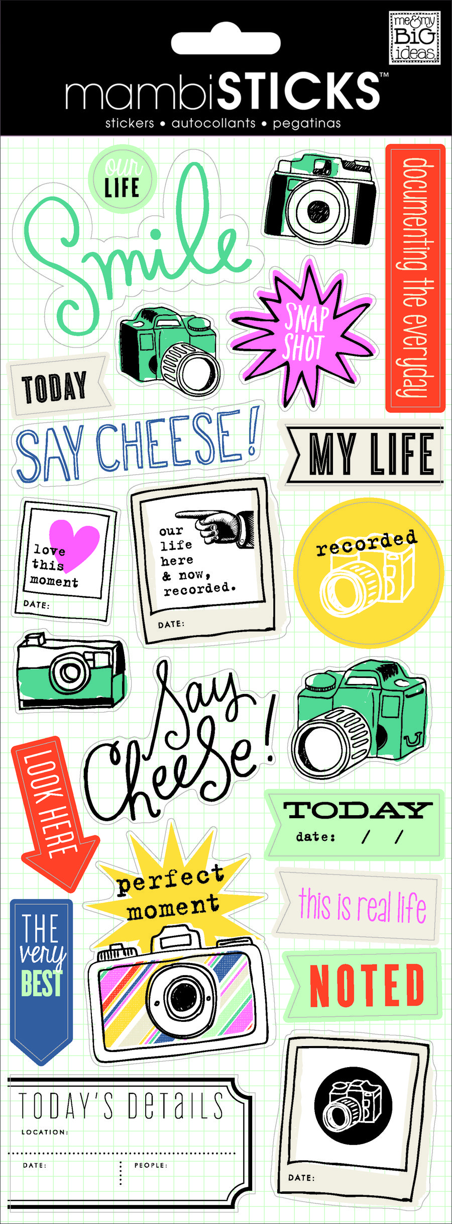 Scrapbook ideas printable - New Mambi Sticker Available At Michaels Stores Camera Smile Polaroid Fun My Life Scrapbook Stickers