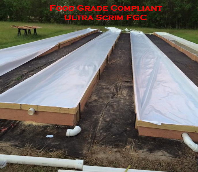 The First Food Grade 100 Recyclable Fda Compliant Scrim Reinforced Plastic Sheeting With Strength Of A 2 Aquaponics System Aquaponics Aquaponics Greenhouse