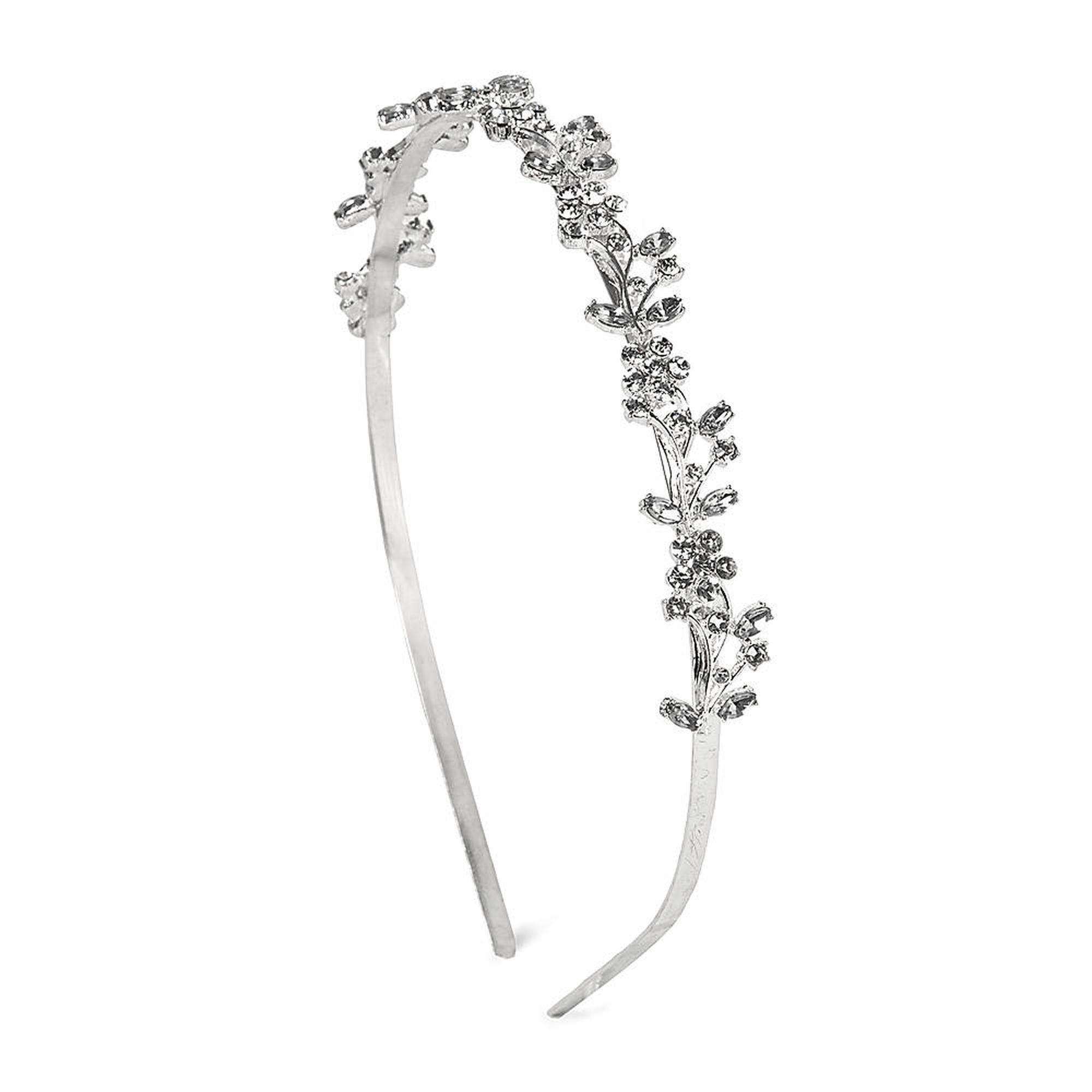 Crystal Flowers and Vine Headband | Vintage Wedding Hairstyles and ...
