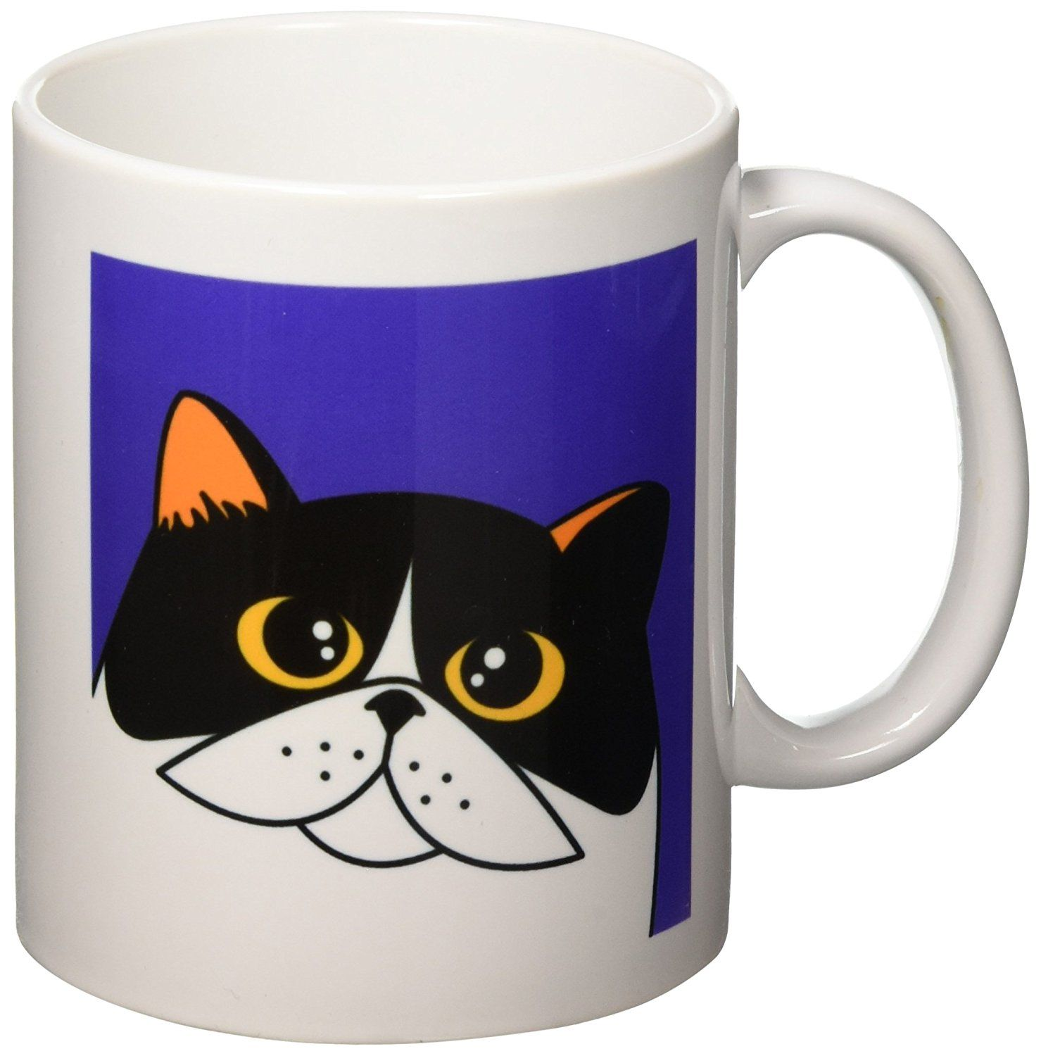 3drose The Curious Cat Calico With Orange Eyes Purple Mug 11 Ounce Additional Details At The Pin Image Click It Cat Mug Curious Cat Cat Mug Mugs