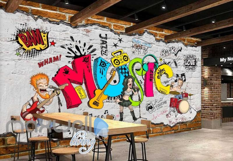 Animated Band Music Cartoon Comic Art Wall Murals Wallpaper Decals Prints Decor Idcwp Jb 000079 Print Decals Wall Murals Mural Wallpaper