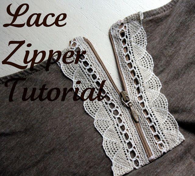 lace zipper tutorial