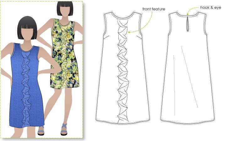 Martine Dress / Top | Shift dress patterns, Sewing patterns and ...