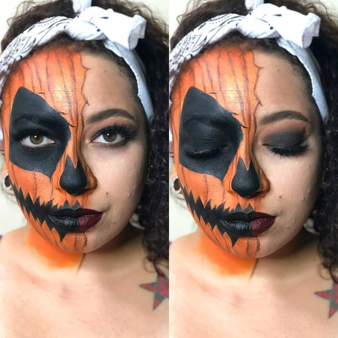 Pin by Mary Cooper on Halloween pumpkin makeup Halloween