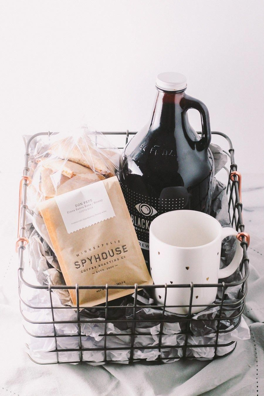 treat the coffee lover in your life with a homemade coffee gift basket this holiday season. a beautiful basket with locally roasted coffee, locally brewed ...