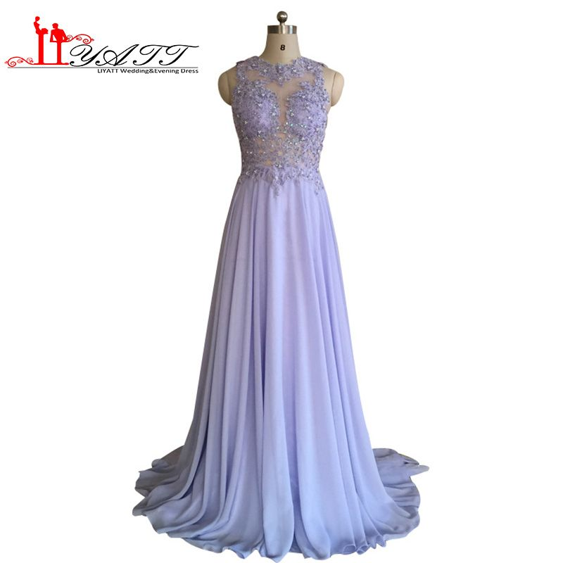 Click to Buy << Sexy O Neck A Line Ombre Chiffon Lace Beaded Maroon ...