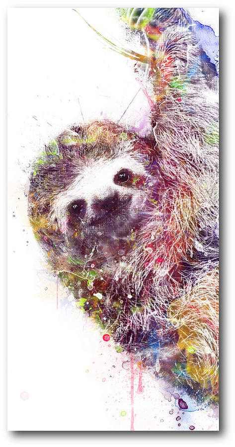 Courtside Market Sloth Gallery Wrapped Canvas Wall Art 12 Sloth Art Gallery Wrap Canvas Animal Art