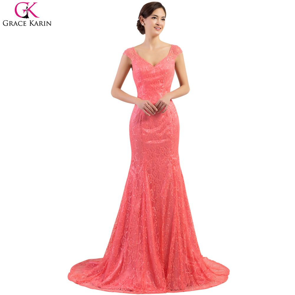 Click to buy ucuc sexy red mermaid wedding dress grace karin sexy v
