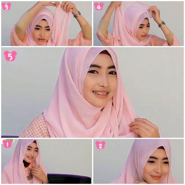 Tutorial Hijab Pashmina Sifon Wajah Bulat Kursus Hijab Tutorial Hijab Pashmina Wajah