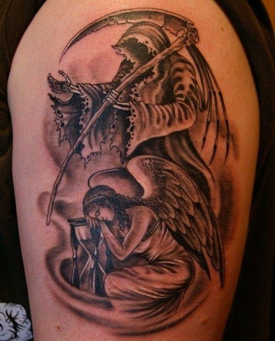 Pin By Mytorius On Believe Tattoo Men: 37 Grim Reaper Tattoos With Dark And Mysterious Meanings